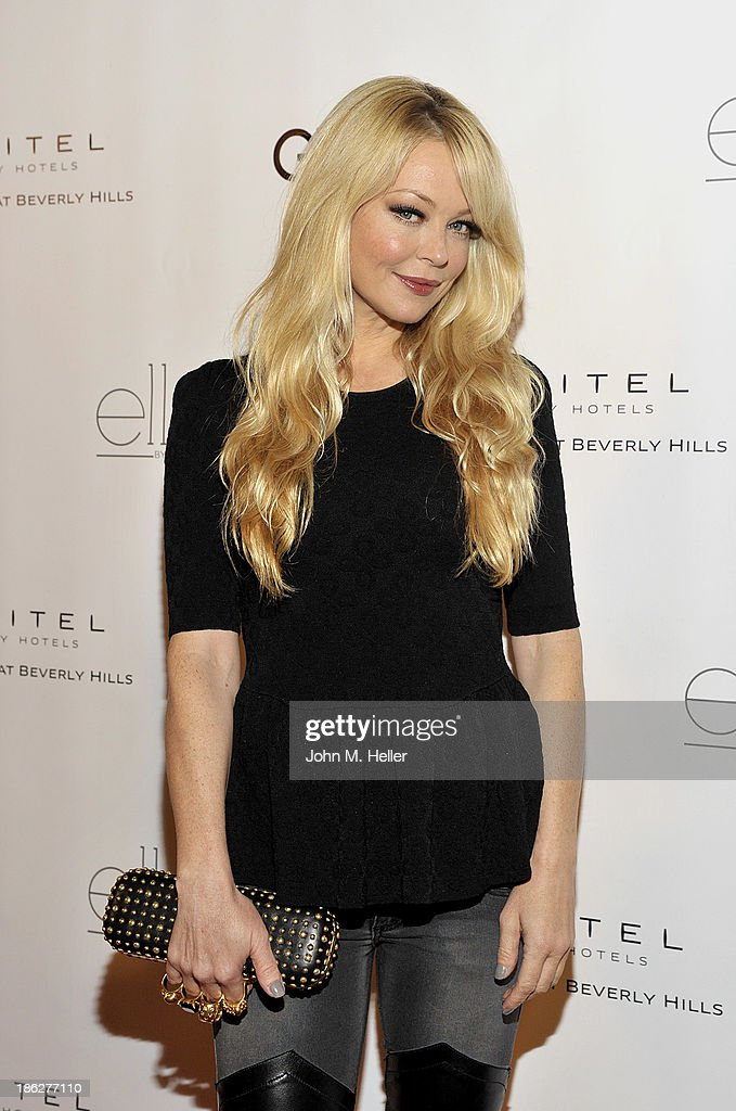 Actress <a gi-track='captionPersonalityLinkClicked' href=/galleries/search?phrase=Charlotte+Ross+-+Actress&family=editorial&specificpeople=217600 ng-click='$event.stopPropagation()'>Charlotte Ross</a> attends Genlux Magazine's Hosting of Photographer Gilles Bensimon's portraits at the Sofitel Hotel on October 29, 2013 in Los Angeles, California.