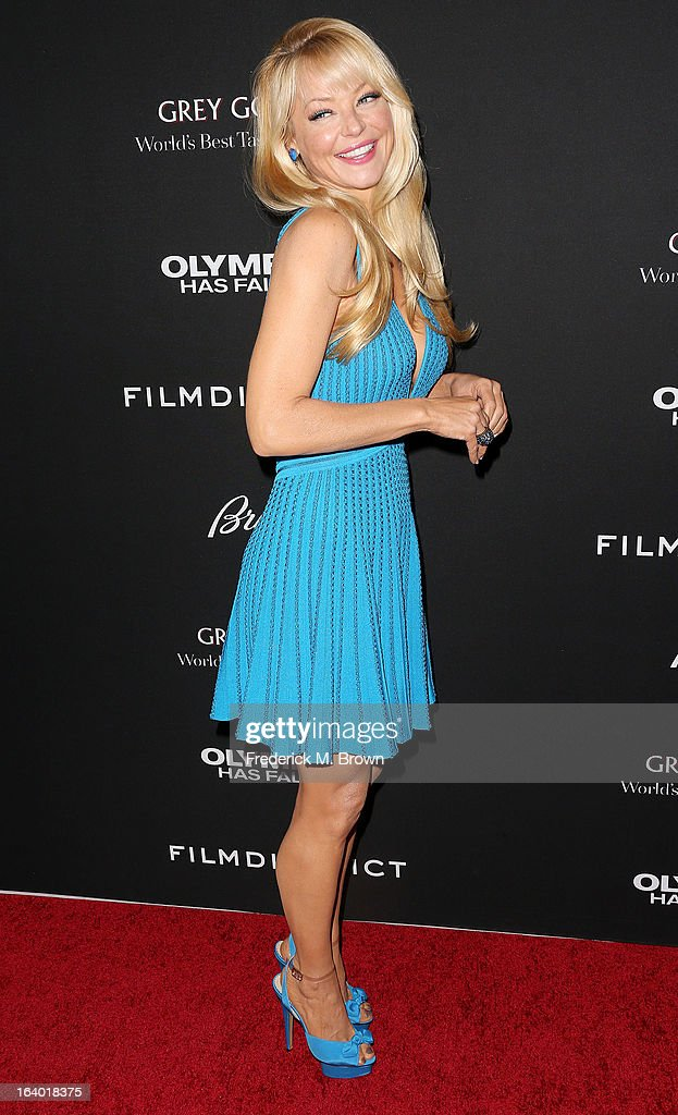 Actress Charlotte Ross attends the Premiere of FilmDistrict's 'Olympus Has Fallen' at the ArcLight Cinemas Cinerama Dome on March 18, 2013 in Hollywood, California.