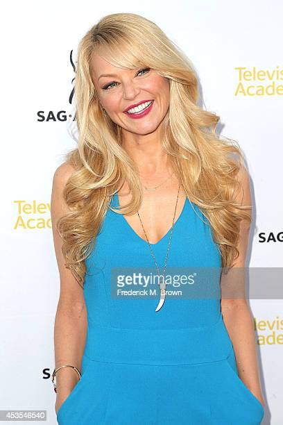 Actress Charlotte Ross attends the Television Academy and SAGAFTRA Presents Dynamic Diverse A 66th Emmy Awards Celebration of Diversity at the...