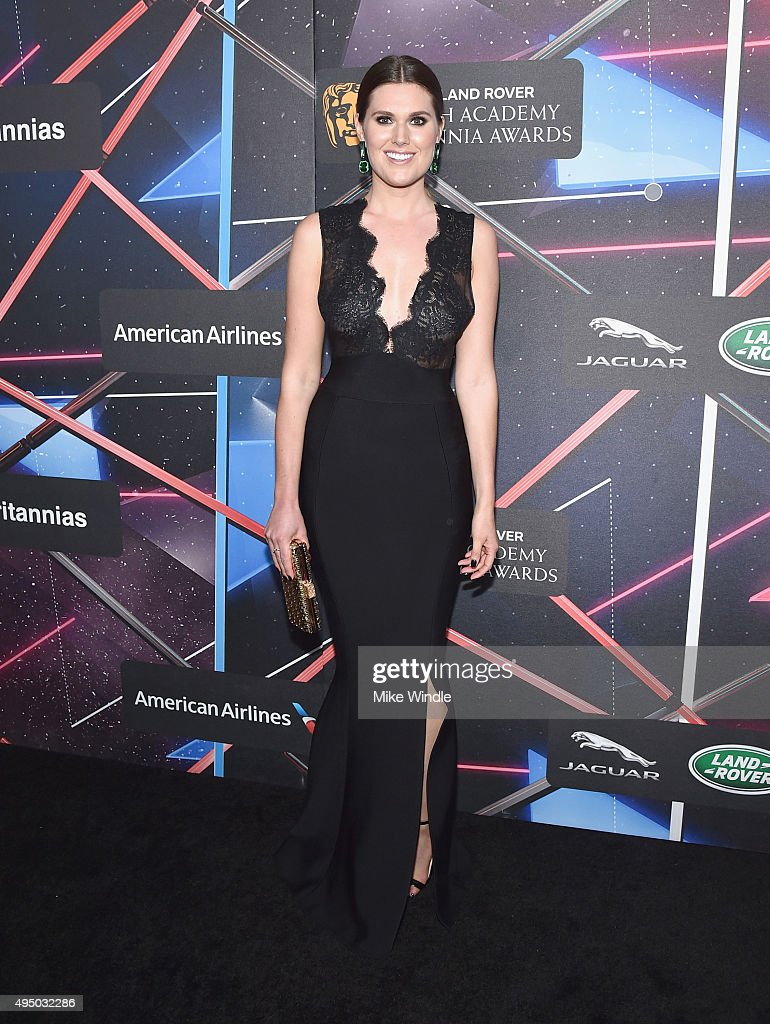 Actress Charlotte Rothwell attends the 2015 Jaguar Land Rover British Academy Britannia Awards presented by American Airlines at The Beverly Hilton Hotel on October 30, 2015 in Beverly Hills, California.