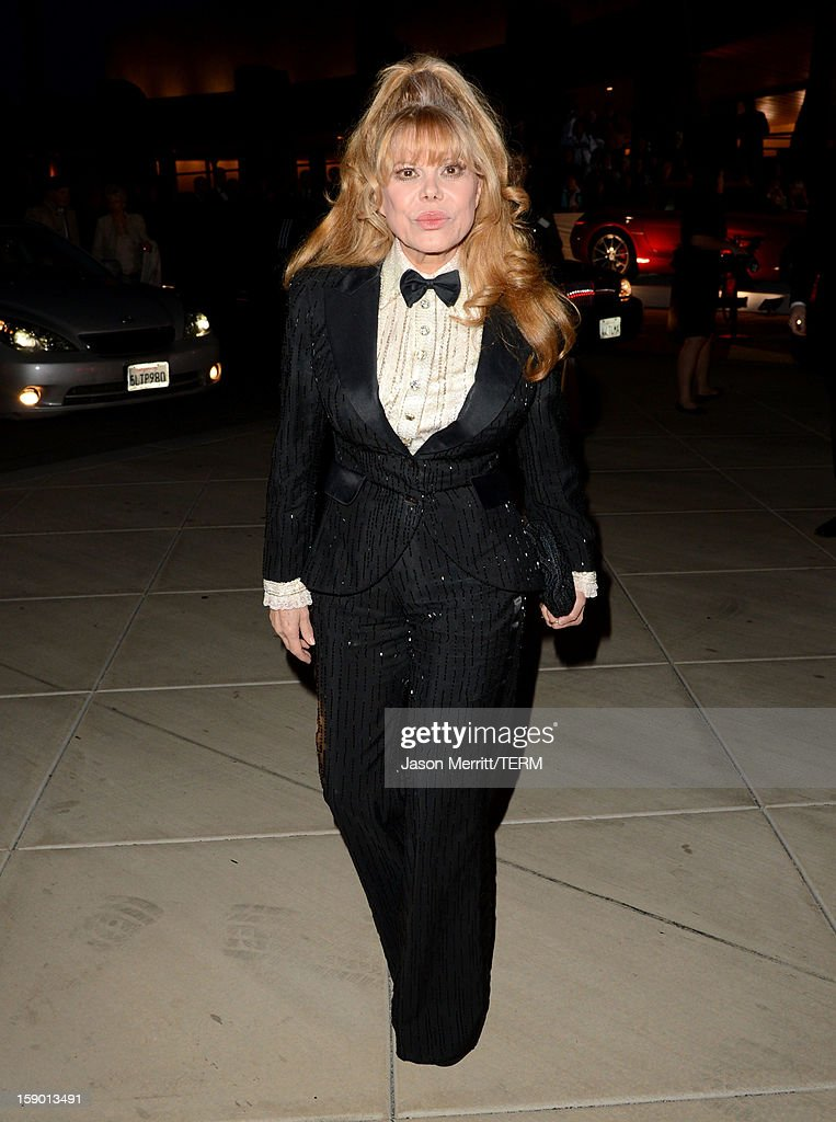 Actress Charo arrives at the 24th annual Palm Springs International Film Festival Awards Gala at the Palm Springs Convention Center on January 5, 2013 in Palm Springs, California.