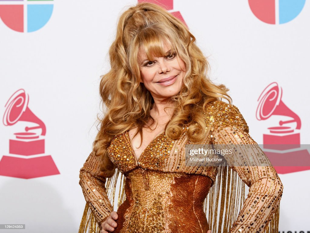 Actress Charo poses in the press room at the 11th Annual Latin GRAMMY Awards held at the Mandalay Bay Resort Casino on November 11 2010 in Las Vegas...