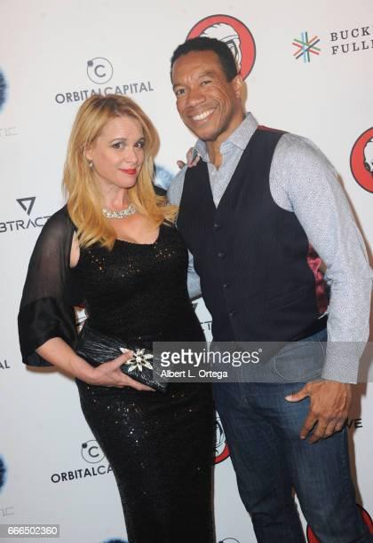Actress Chase Masterson and acctor Rico E Anderson attend Yuri's Night LA held on April 8 2017 in Los Angeles California