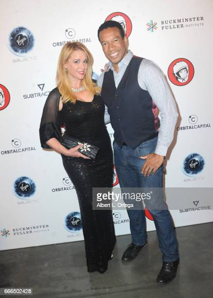 Actress Chase Masterson and acctor Rico E Anderson attend Yuri's Night LA held on April 8 2017 in Los Angeles California