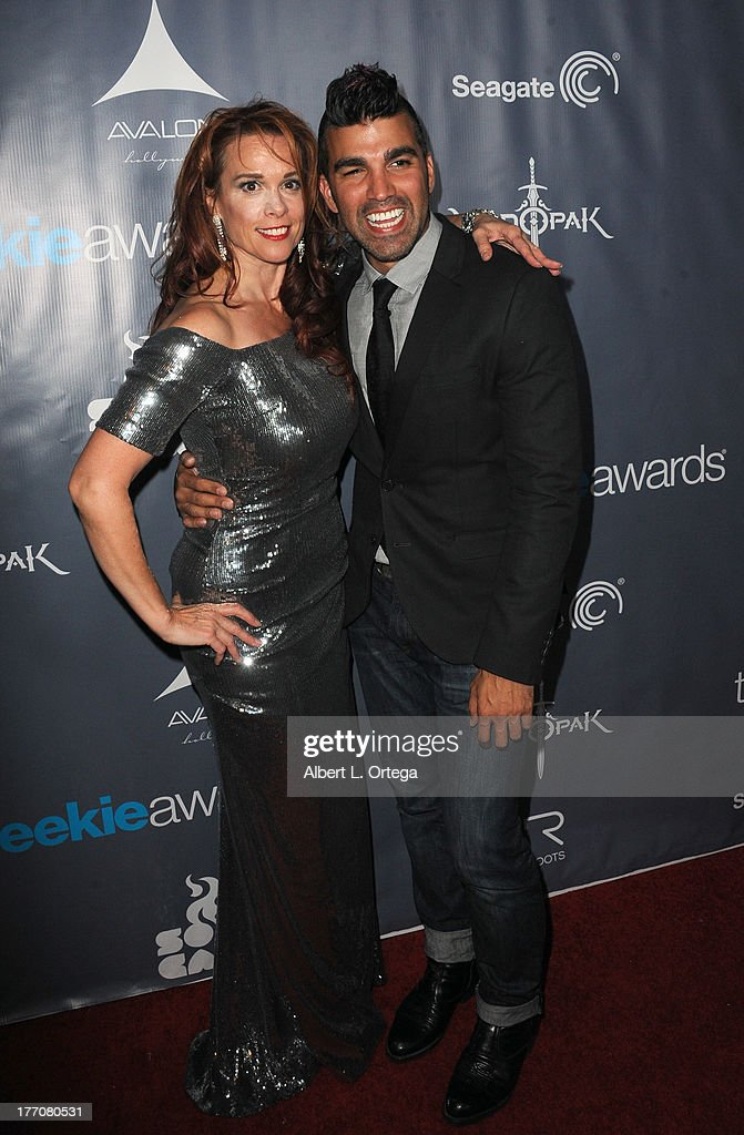 Actress Chase Masterson and Nasa's Bobak Ferdowski attend The 1st Annual Geekie Awards - Arrivals held at Avalon on August 18, 2013 in Hollywood, California.