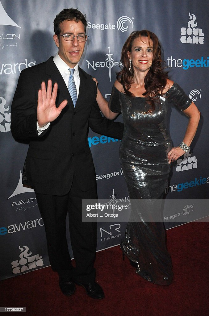 Actress Chase Masterson and Travis attend The 1st Annual Geekie Awards - Arrivals held at Avalon on August 18, 2013 in Hollywood, California.
