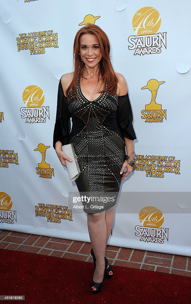Actress <a gi-track='captionPersonalityLinkClicked' href=/galleries/search?phrase=Chase+Masterson&family=editorial&specificpeople=832427 ng-click='$event.stopPropagation()'>Chase Masterson</a> arrives for the 40th Annual Saturn Awards held at The Castaway on June 26, 2014 in Burbank, California.