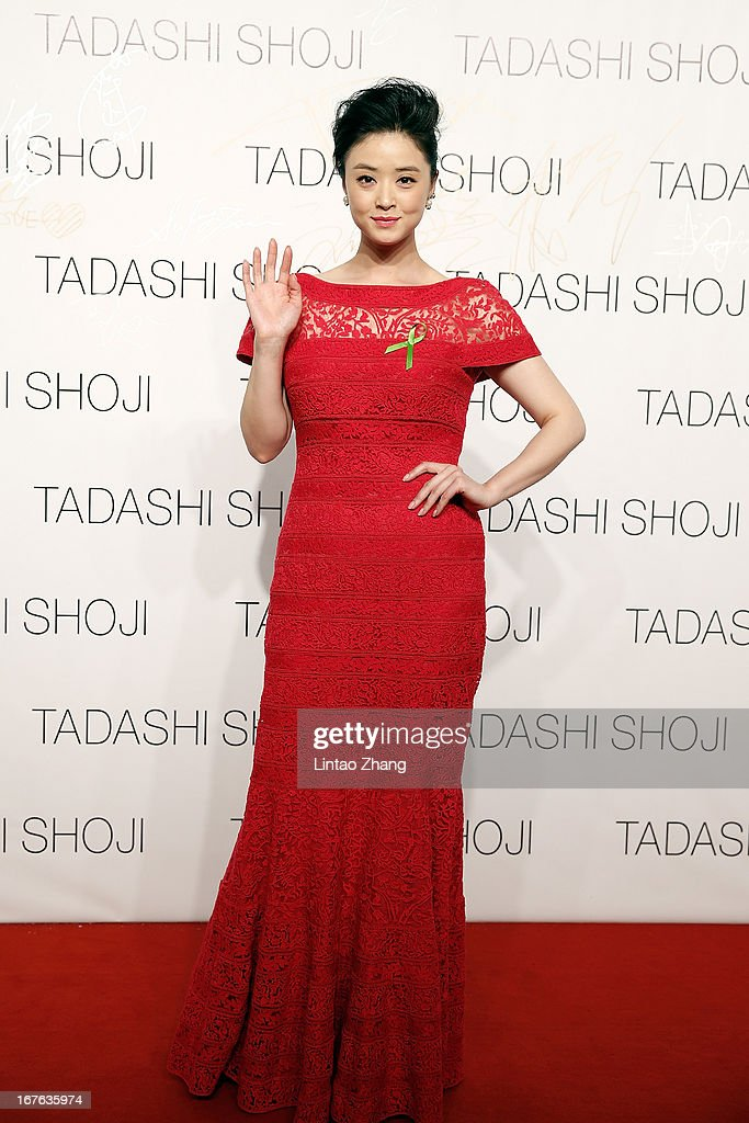 Actress Che Yongli attends the Tadashi Shoji Beijing Store Grand Opening at Beijing Parkview Green on April 26, 2013 in Beijing, China.