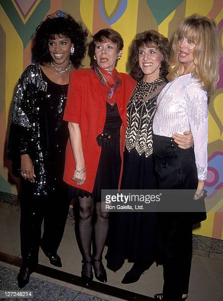 Actress Chelsea Brown actress Judy Carne actress Ruth Buzzi and actress Goldie Hawn attend the NBC Winter TCA Press Tour the 'Rowan Martin's LaughIn'...