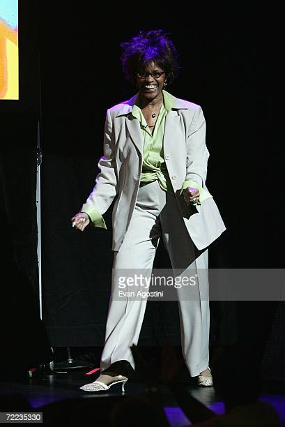 Actress Chelsea Brown attends the 'Laugh In' cast reunion at the Mohegan Sun 10th Anniversary celebration in the Cabaret Theatre at Mohegan Sun...