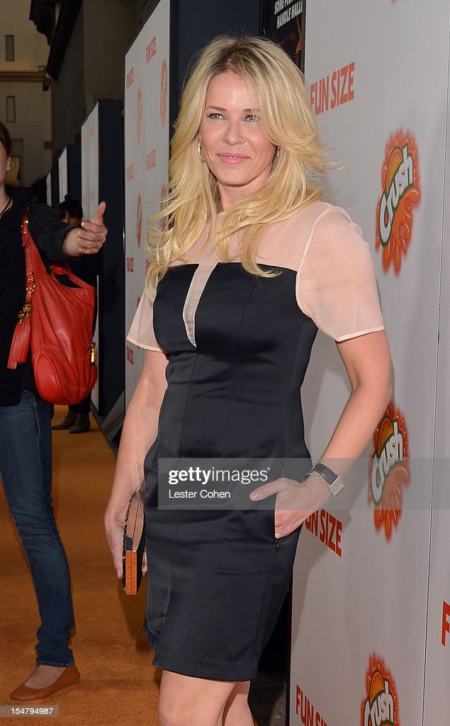 Actress Chelsea Handler arrives at the Los Angeles premiere of 'Fun Size' at Paramount Studios on October 25 2012 in Hollywood California