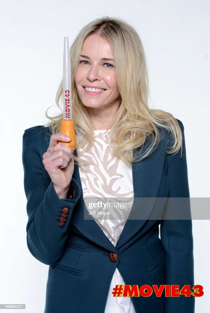 Actress Chelsea Handler poses for a portrait during Relativity Media's 'Movie 43' Los Angeles premiere at TCL Chinese Theatre on January 23, 2013 in Hollywood, California.