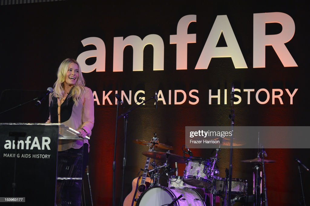 Actress <a gi-track='captionPersonalityLinkClicked' href=/galleries/search?phrase=Chelsea+Handler&family=editorial&specificpeople=599162 ng-click='$event.stopPropagation()'>Chelsea Handler</a> speaks onstage during amfAR's Inspiration Gala at Milk Studios on October 11, 2012 in Los Angeles, California.