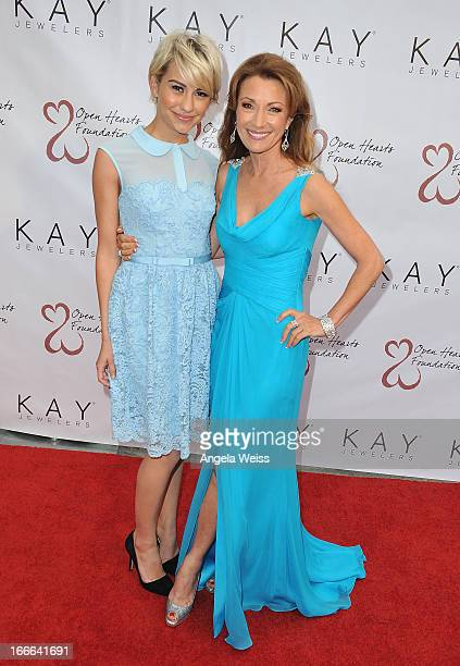 Actress Chelsea Kane and actress Jane Seymour attend Jane Seymour's 3rd annual Open Hearts Foundation celebration at a private residence on April 13...
