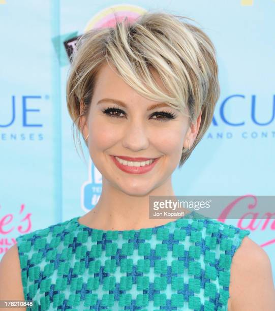 Actress Chelsea Kane arrives at the 2013 Teen Choice Awards at Gibson Amphitheatre on August 11 2013 in Universal City California