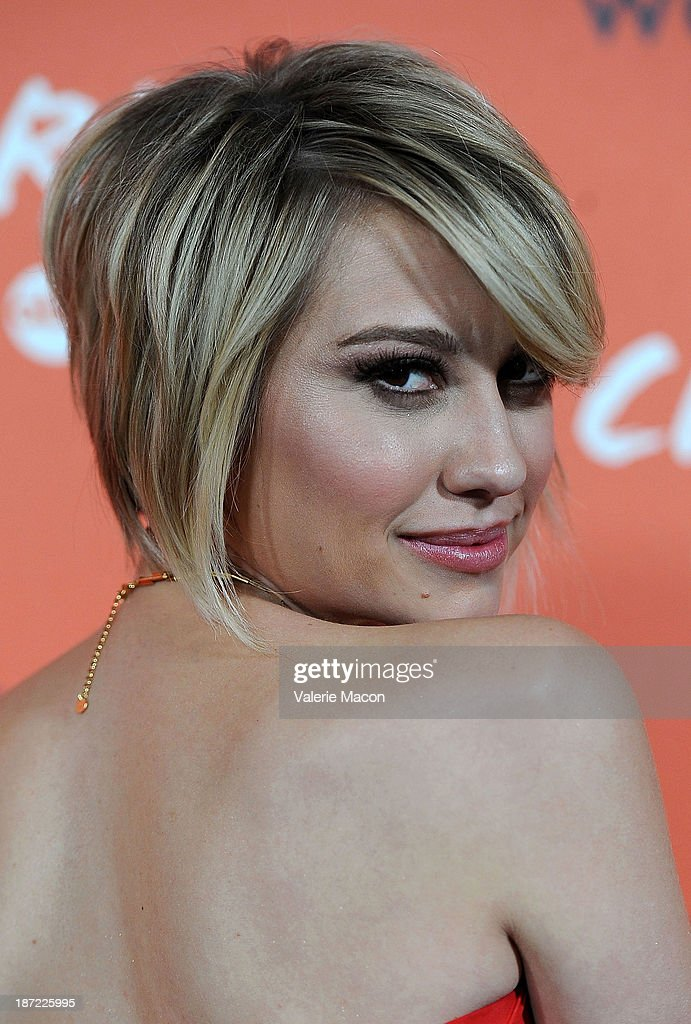 Actress <a gi-track='captionPersonalityLinkClicked' href=/galleries/search?phrase=Chelsea+Kane&family=editorial&specificpeople=4436708 ng-click='$event.stopPropagation()'>Chelsea Kane</a> arrives at the Launch Celebration Of Crush By ABC Family at The London Hotel on November 6, 2013 in West Hollywood, California.