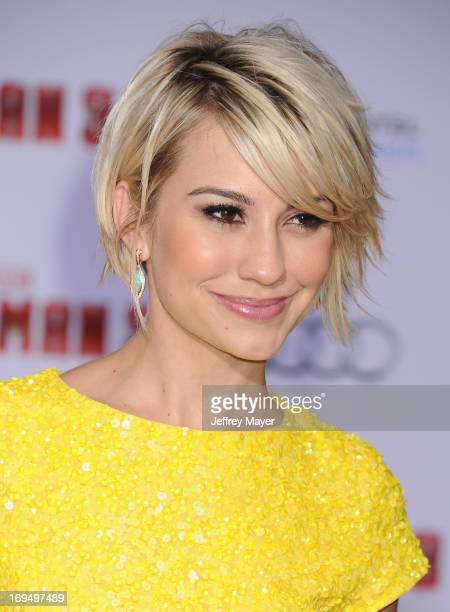 Actress Chelsea Kane arrives at the Los Angeles Premiere of 'Iron Man 3' at the El Capitan Theatre on April 24 2013 in Hollywood California