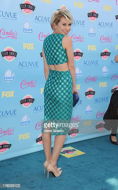 Actress Chelsea Kane attends the 2013 Teen Choice Awards at Gibson Amphitheatre on August 11 2013 in Universal City California