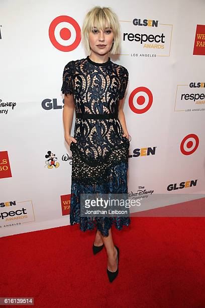 Actress Chelsea Kane attends the 2016 GLSEN Respect Awards Los Angeles at the Beverly Wilshire Four Seasons Hotel on October 21 2016 in Beverly Hills...