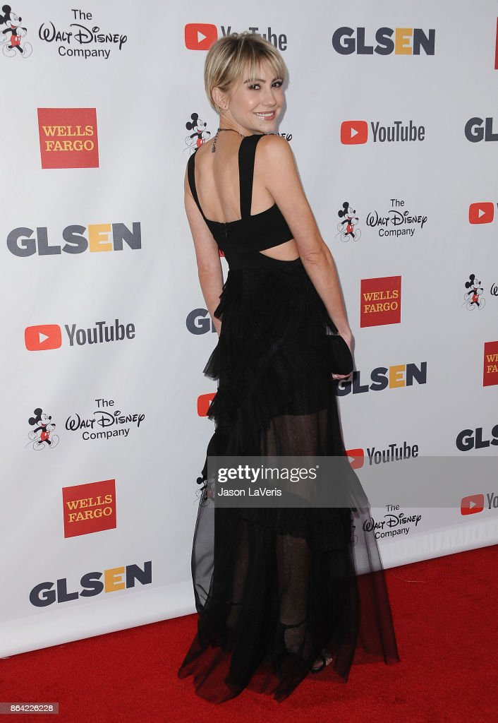 Actress Chelsea Kane attends the 2017 GLSEN Respect Awards at the Beverly Wilshire Four Seasons Hotel on October 20, 2017 in Beverly Hills, California.