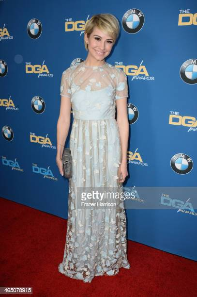 Actress Chelsea Kane attends the 66th Annual Directors Guild Of America Awards held at the Hyatt Regency Century Plaza on January 25 2014 in Century...