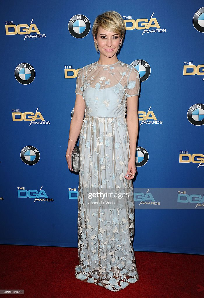Actress Chelsea Kane attends the 66th annual Directors Guild of America Awards at the Hyatt Regency Century Plaza on January 25, 2014 in Century City, California.