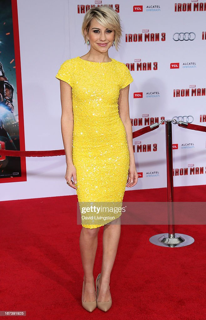 Actress Chelsea Kane attends the premiere of Walt Disney Pictures' 'Iron Man 3' at the El Capitan Theatre on April 24, 2013 in Hollywood, California.