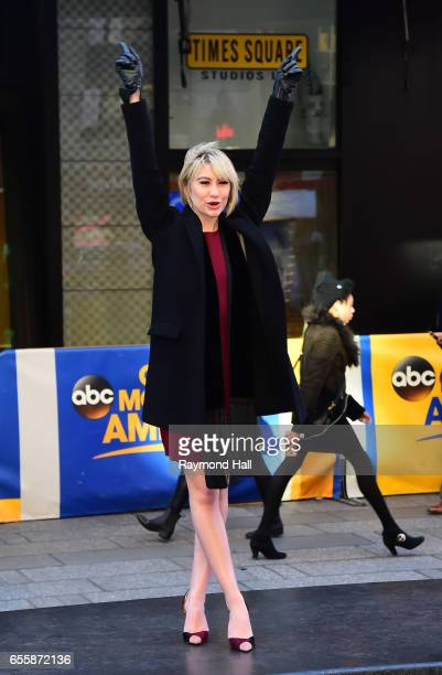 Actress Chelsea Kane leaves the 'Good Morning America' taping at the ABC Times Square Studios on March 20 2017 in New York City