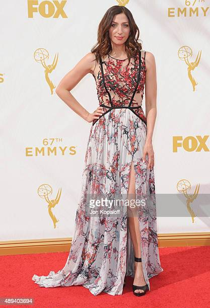 Actress Chelsea Peretti arrives at the 67th Annual Primetime Emmy Awards at Microsoft Theater on September 20 2015 in Los Angeles California
