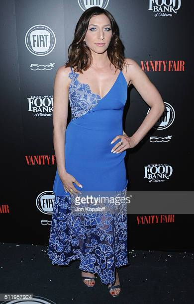 Actress Chelsea Peretti arrives at Vanity Fair And FIAT Toast To 'Young Hollywood' at Chateau Marmont on February 23 2016 in Los Angeles California