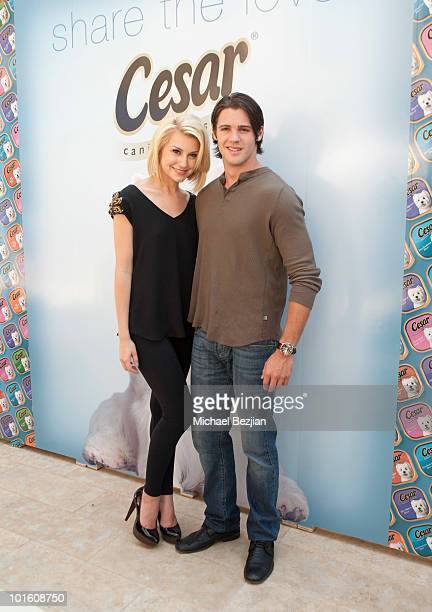 Actress Chelsea Staub and actor Steve McQueen attend Cesar Canine Cuisine at Kari Feinstein MTV Movie Awards Style LoungeDay 1 at Montage Beverly...