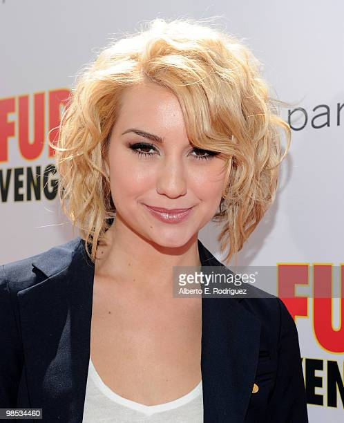 Actress Chelsea Staub arrives at the premiere of Summit Entertainment and Participant Media's 'Furry Vengeance' at the Bruin Theatre on April 18 2010...