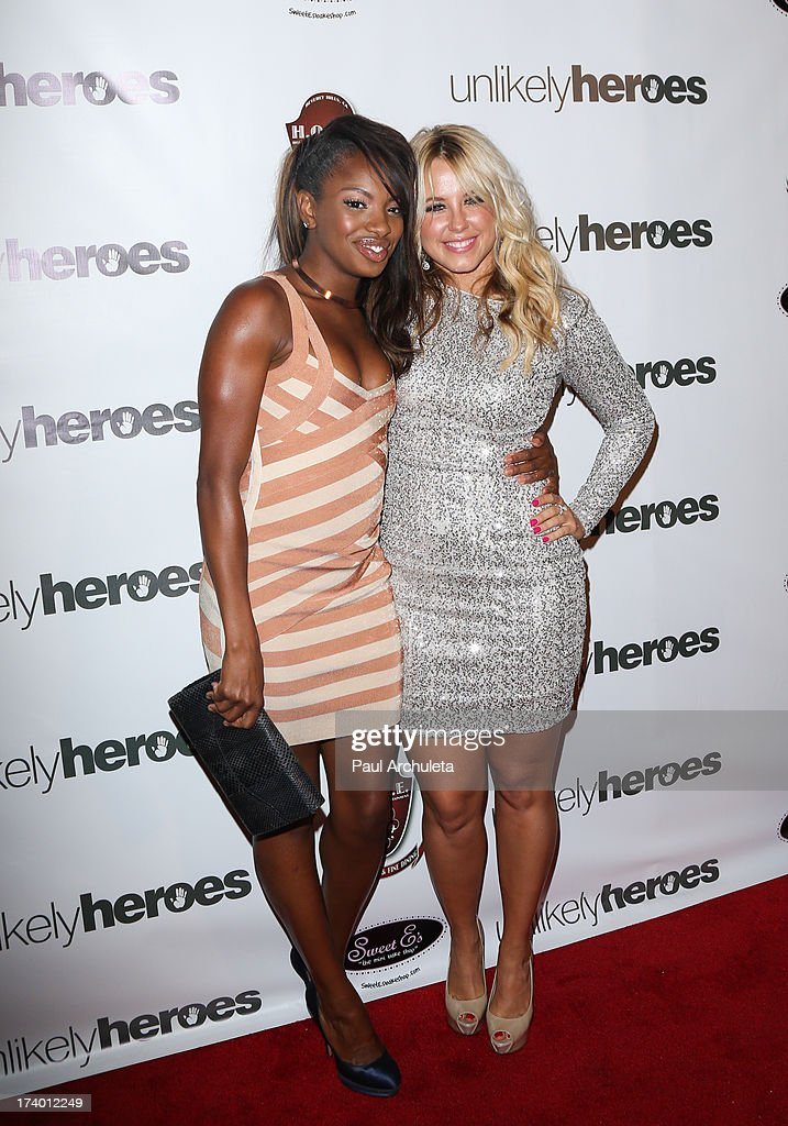 Actress Chelsea Traille (L) and Reality TV Personality / Dancer Chelsie Hightower (R) attend the birthday celebration for Chelsie Hightower and Peta Murgatroyd and also supporting the 'Unlikely Heroes' charity organization on July 18, 2013 in Los Angeles, California.