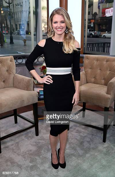 Actress Chelsey Crisp visits Hollywood Today Live at W Hollywood on November 28 2016 in Hollywood California