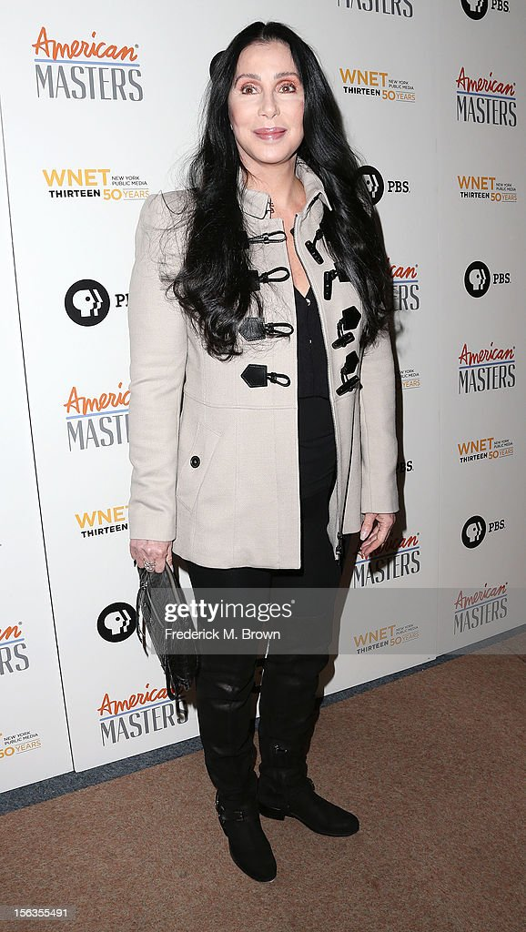 Actress <a gi-track='captionPersonalityLinkClicked' href=/galleries/search?phrase=Cher+-+Artista&family=editorial&specificpeople=203036 ng-click='$event.stopPropagation()'>Cher</a> attends the Premiere Of 'American Masters Inventing David Geffen' at The Writers Guild of America on November 13, 2012 in Beverly Hills, California.