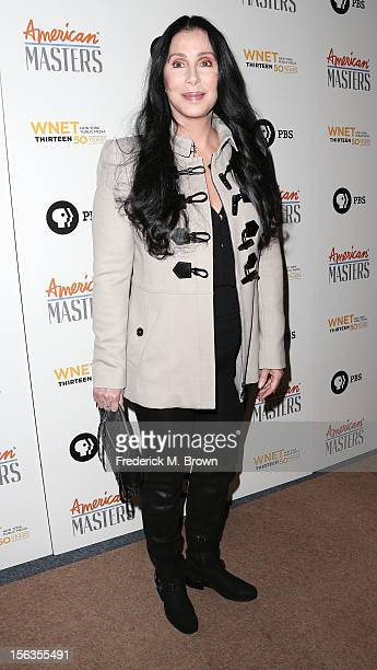 Actress Cher attends the Premiere Of 'American Masters Inventing David Geffen' at The Writers Guild of America on November 13 2012 in Beverly Hills...