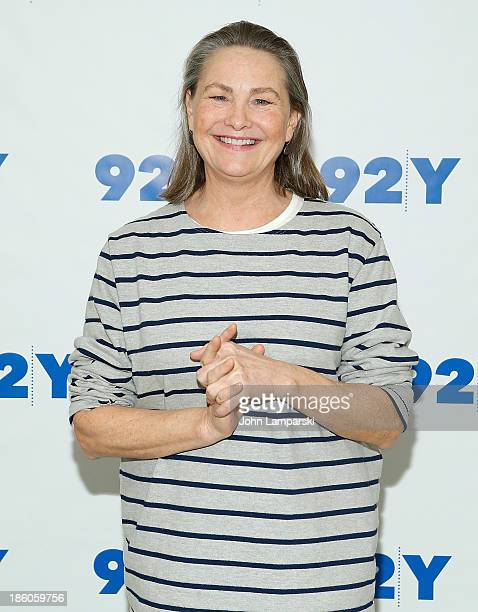 Actress Cherry Jones attends 'Broadway Talks with Jordan Roth' presented by 92Y at 92Y on October 27 2013 in New York City
