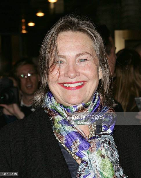 Actress Cherry Jones attends the opening night of 'Enron' on Broadway at the Broadhurst Theatre on April 27 2010 in New York City