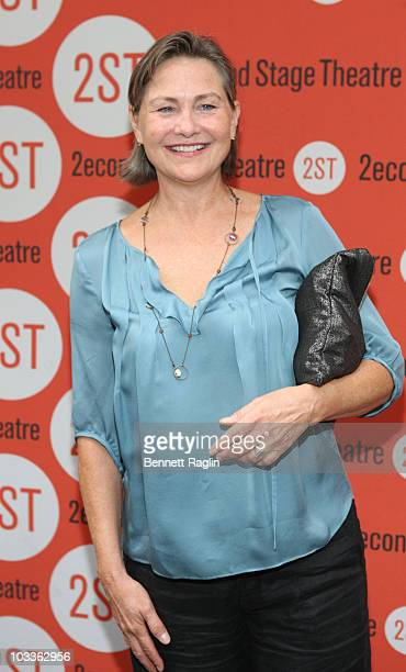 Actress Cherry Jones attends the opening night of 'Trust' at Second Stage Theatre on August 12 2010 in New York City
