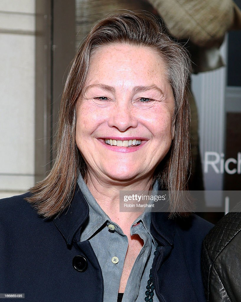 Actress Cherry Jones attends the 'The Assembled Parties' opening night at Samuel J. Friedman Theatre on April 17, 2013 in New York City.