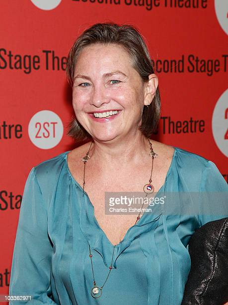 Actress Cherry Jones attends the 'Trust' OffBroadway opening night at the Second Stage Theatre on August 12 2010 in New York City