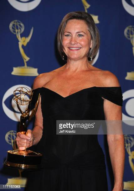 Actress Cherry Jones poses in the press room at the 61st Primetime Emmy Awards held at the Nokia Theatre on September 20 2009 in Los Angeles...