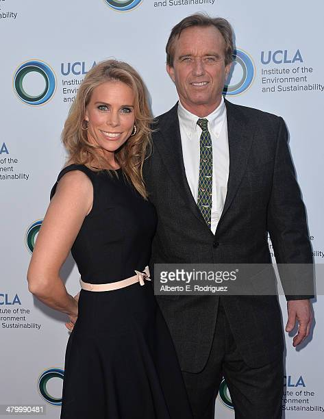 Actress Cheryl Hines and attorney Robert F Kennedy Jr attend An Evening of Environmental Excellence presented by the UCLA Institute of the...