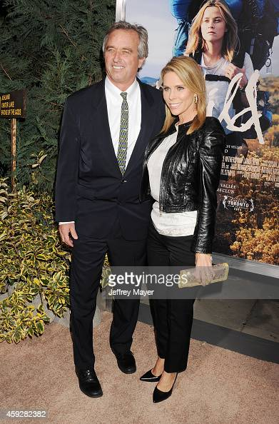 Actress Cheryl Hines and husband Robert F Kennedy Jr arrive at the Los Angeles premiere of 'Wild' at AMPAS Samuel Goldwyn Theater on November 19 2014...