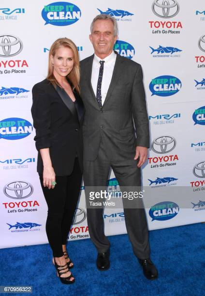 Actress Cheryl Hines and radio host Robert F Kennedy Jr attend Keep it Clean Live Comedy Benefit for Waterkeeper Alliance at Avalon Hollywood on...