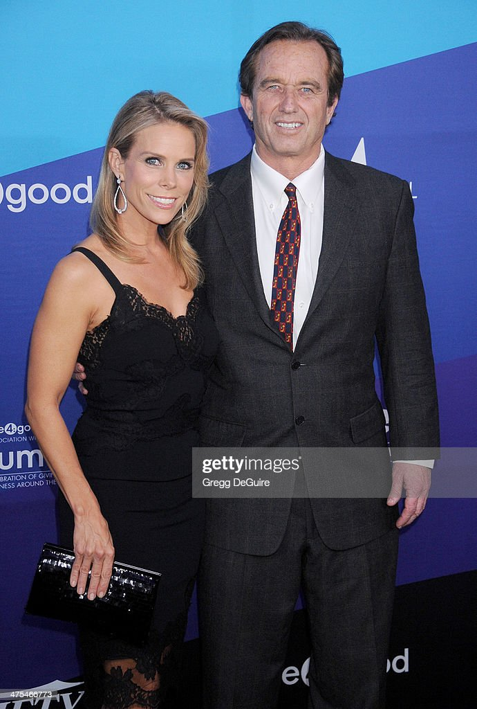 Actress Cheryl Hines and Robert F. Kennedy Jr. arrive at the 1st Annual Unite4:humanity event hosted by Unite4good and Variety at Sony Studios on February 27, 2014 in Los Angeles, California.