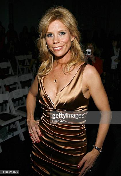 Actress Cheryl Hines attends Nicole Miller 2008 during MercedesBenz Fashion Week at the Tents at Bryant Park on February 1 2008 in New York City