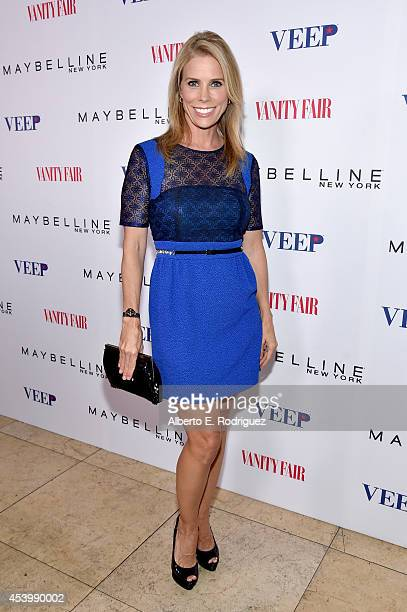 Actress Cheryl Hines attends the Vanity Fair and Maybelline New York toast of the EmmyNominated 'VEEP' on August 22 2014 in West Hollywood California