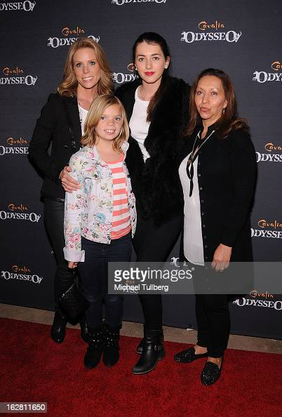 Actress Cheryl Hines daughter Catherine Kyra Kennedy and Maria Quinones attend the opening night of Cavalia's 'Odysseo' equestrian show at Cavalia's...