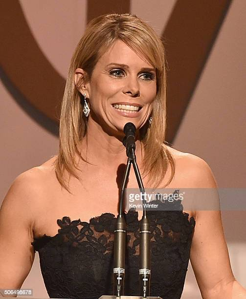 Actress Cheryl Hines speaks onstage at the 27th Annual Producers Guild Of America Awards at the Hyatt Regency Century Plaza on January 23 2016 in...
